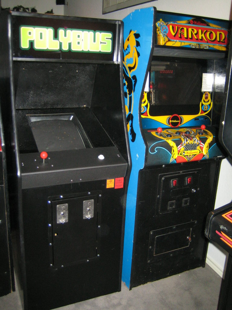 Polybius video game arcade cabinet